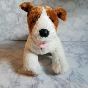 Build a Bear Dog Brown White Collar Stuffed Animal